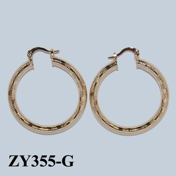 Indian Jhumka Earring Large Gold Hoop Earrings Fashion