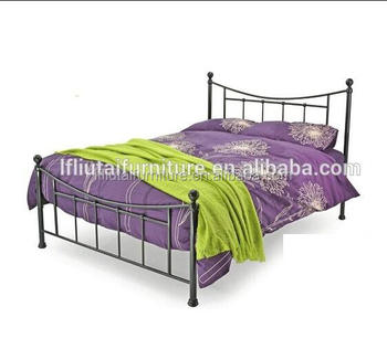 4ft6 double bed design metal furniture iron steel double deck bed