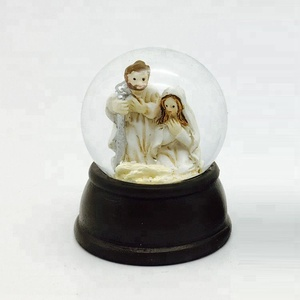 Cheap 50mm Glitter glass Xmas Decor nativity religious snow globe