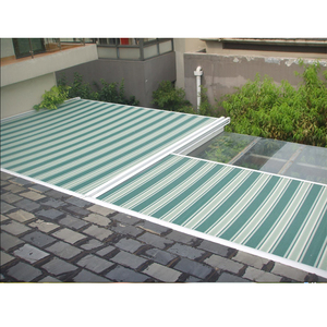 Electric Aluminum Conservatory Roof Fabric Cover Awning