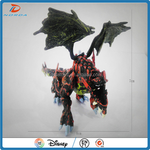 3D OEM small plastic dragon toys