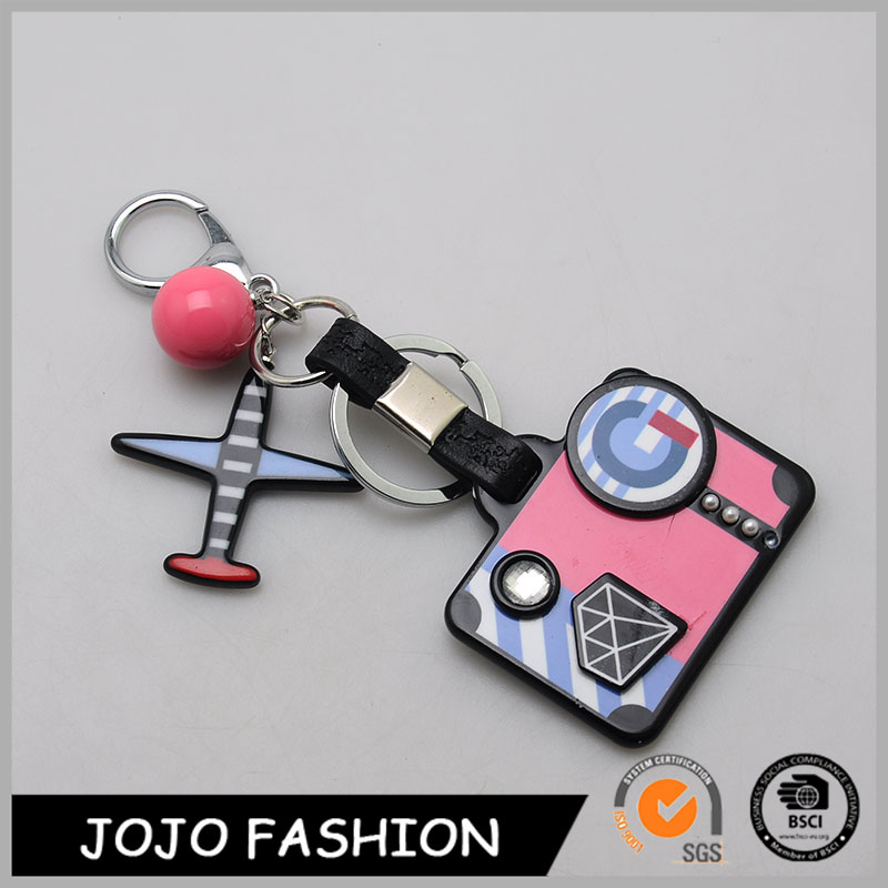 New style top quality camera pendant toy promotion custom metal keychain
