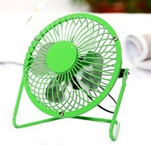 Nuwa Mini Flexible USB Fan Four Blades Mini Electric Fan with 360 Degree Mute Rotating Portable Desktop Laptop Cooler Cooling Desk Fan Air Conditioner Cooler Fan Computer USB Gadgets Small Fan Perfect Summer Cooler Tool (Green-6inch)