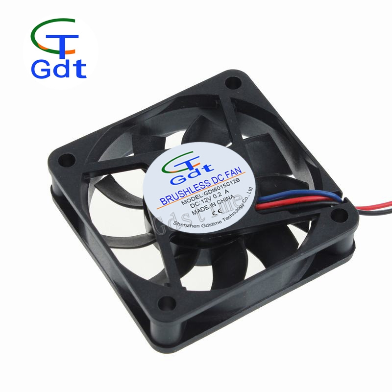 "GDT DC 5V 12V 24V 60mmx15mm 6cm 6015 2.36"" 2/3Pin Laptop Internal Cooling Fans"