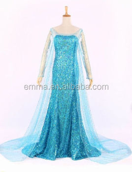 Adult Frozen Style Elsa Coronation Party Fancy Dress Princess Anna Costume Cosplay For Adult Bwg 4078 Buy Frozen Princess Anna Costume Cosplay For