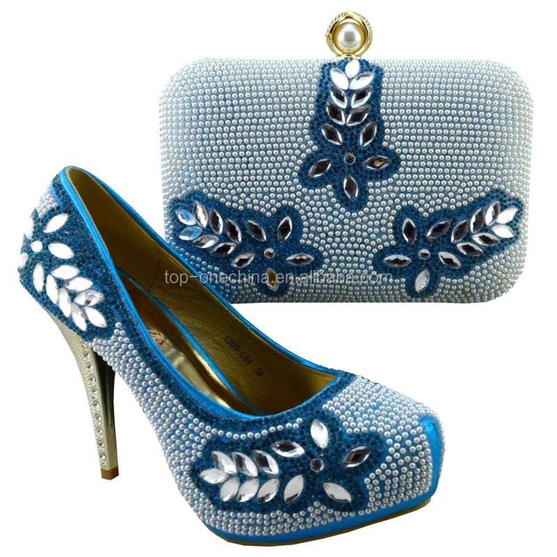 Italian matching shoes and heel blue high bags bags Crystal shoes royal stone and 6BTqgqdwZ
