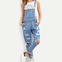 2019 herfst sexy fashion skinny elastische ripped <span class=keywords><strong>blauw</strong></span> vrouw denim jeans <span class=keywords><strong>jumpsuit</strong></span>
