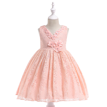 6965bc07a1ce1 Wedding Dress Ball Gown Bridal Organic Cotton Baby Clothes Fancy Baby Girl  Lace kids Birthday Party