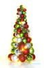 Inexpensive luxury plastic christmas ball tree with lights