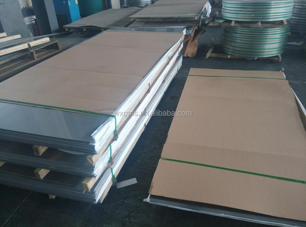 grade 201 stainless steel sheet 8k mirror surface with pvc coated