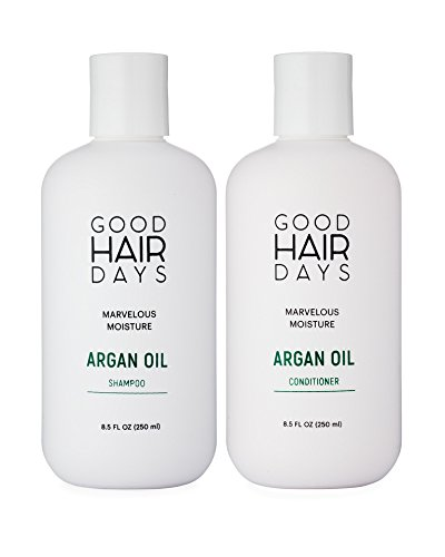 Moroccan Argan Oil Shampoo & Conditioner Set, Good For Hair Extensions, Shampoo & Conditioner for Keratin Treated Hair, Volumizing & Moisturizing, Gentle on Curly & Color Treated Hair
