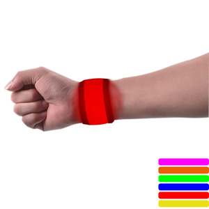 Factory price 8 light colors slap band Motion Flashing light LED Wristband