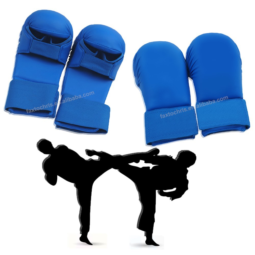 Karate Sparring Mitts with custom logo without thumb