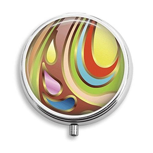 Abstract Swirls Pill Box Pill Holder Pill Case Medicine Holder Decorative Box Mint Tin Vitamin Holder Small Craft Container Handmade Gifts For Her