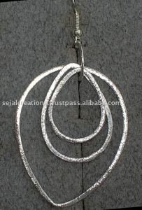 Plain Silver Earrings Silver Jewellery K821