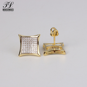 Custom Design Fashion Zircon Mens Earring Tanishq Diamond Earrings