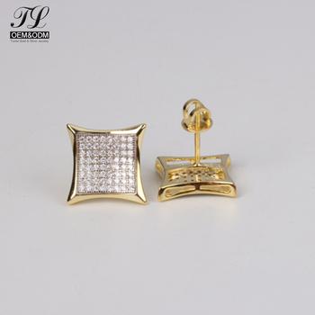 Custom Design Fashion Zircon Mens Earring Tanishq Diamond Earrings