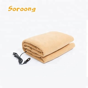 Good quality cheap price polar fleece and polyester electric thick heavy heated blanket for adult
