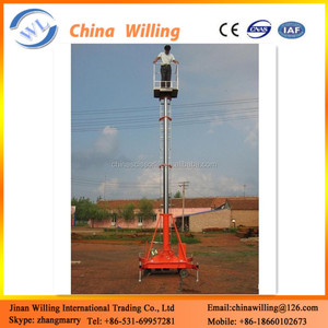 Single mast hydraulic lift genie personnel lift aerial working platform man lift WLS-15