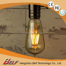 Best sell CE & RoHS approves led filament bulb st58 dimmable b22 e26 e27 base for decoration using