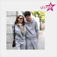 Casual Two Piece Set Long Sleeve Fleece Suit For Women With High Quality