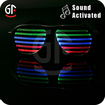 Color Changing Customized Logo Hot Sale Sound Activated Sunglasses
