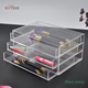 3 Tiers Clear Acrylic Makeup Organizer Acrylic Storage Box for Cosmetics