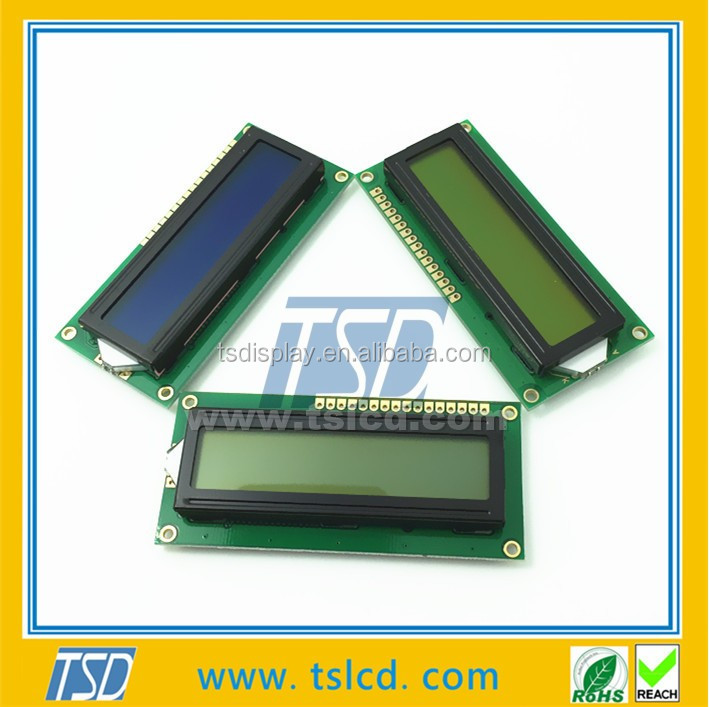Wholesale 16 Pins Yellow Green Led Backlit 16x2 Character Lcd Module Display 1602 LCM