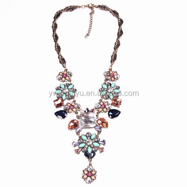 fashion glitter rhinestone necklace