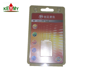 China hot sale clamshell blister packaging for micro SD card memory card