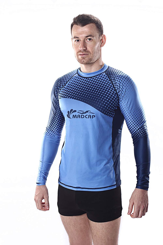 45af571e6e Get Quotations · MADCAP Mens UV Sun Protection Long Sleeve Rash Guard  Swimwear Surf Swim Fishing Shirt Top