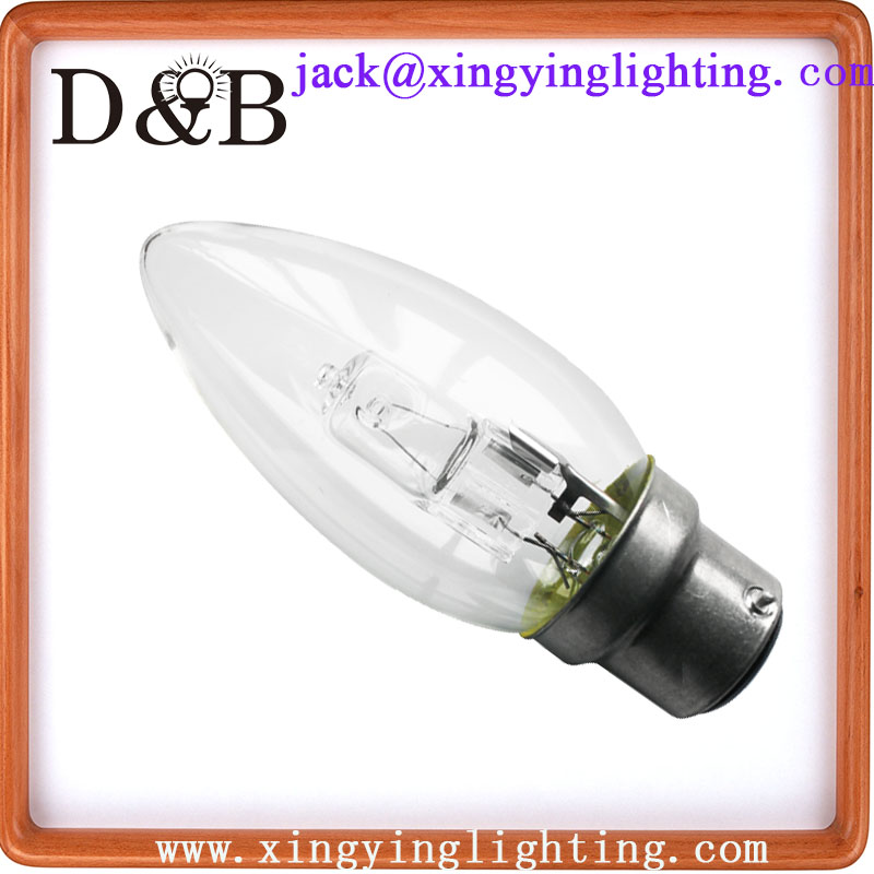 ECO Halogen C35 B22 bulb - energy saving halogen bulb - halogen class c lamps -light bulb