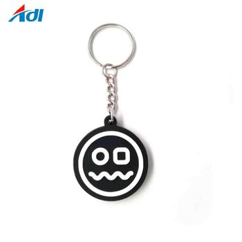Custom OEM key Holder PVC Rubber Keychain Custom PVC Keyring