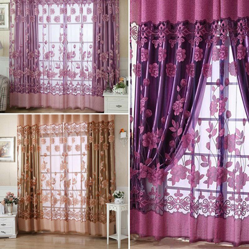 250 100 Cm Floral Tulle Voile Maison De D 233 Coration