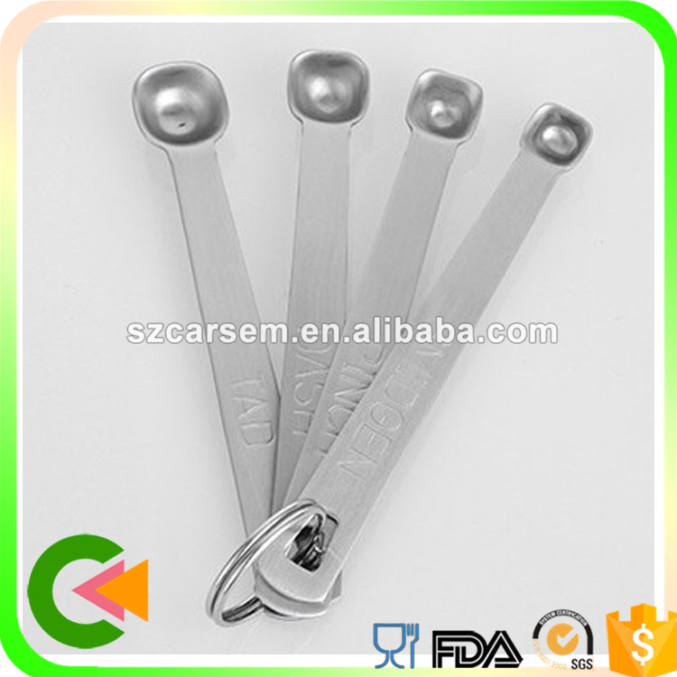 Hot sale portable stainless steel measuring spoons