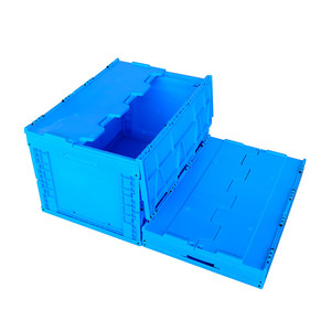 2018 hot sale plastic folding crate,collapsible storage box