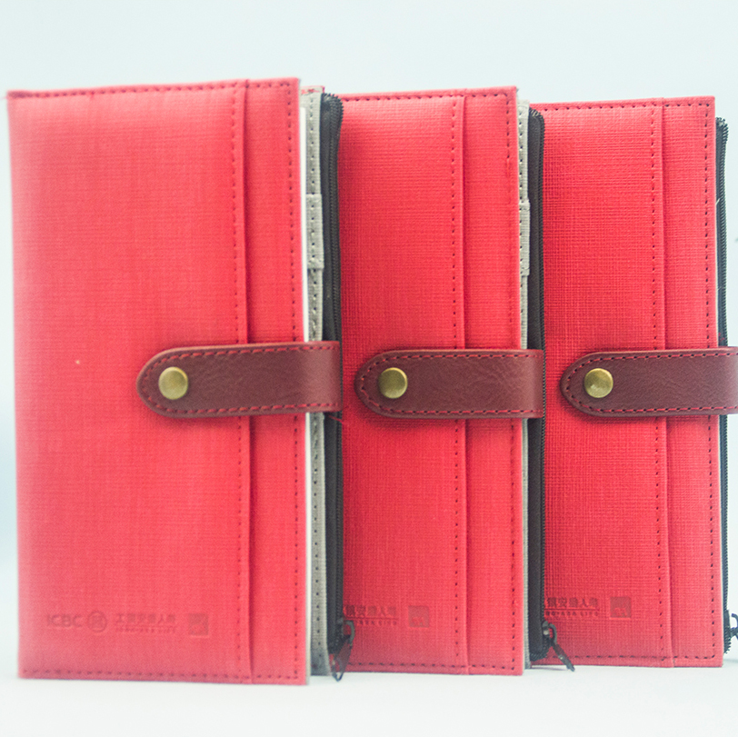 2018 hot selling edge zipper pocket journal