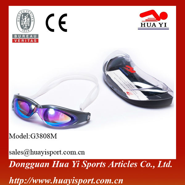 Anti uv professional game swim goggles girls and boys swim goggles with nice case