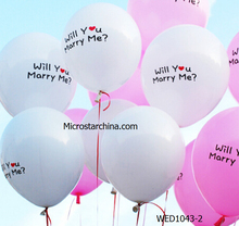 2015 venta caliente en stock blanco y rosa 12 pulgadas will you marry me romántica personaliz imprenta globos para el amante Decoracion