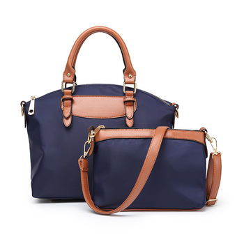 Wholesale Handbag Set Contrast Women Shoulder Handbag Top Handle Casual Handbag