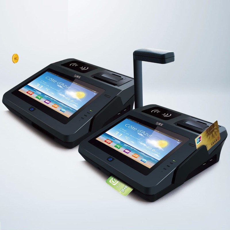 Android Touch Panel Finger Scan Pos Machines With Thermal Printer Bluetooth Wifi