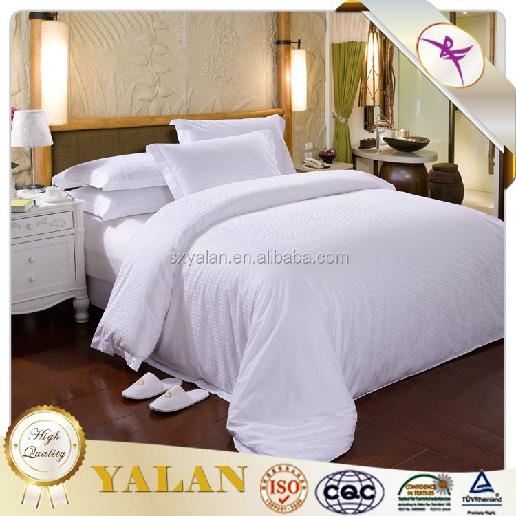 Hot Sale Luxury 100% Cotton Satin Style ,Jacquard,Dobby,Stripe Style Duvet cover set ,material softness and comfort