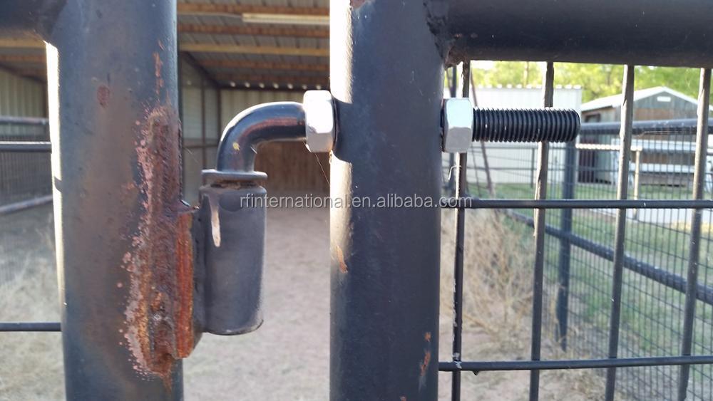 Black Powder Coated J Bolt Adjustable Barrel Weld On Gate