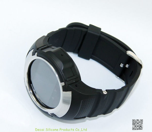 BLACK TOUCH SCREEN WATCH CELL PHONE CAMERA MP3 WATCH MOBILE