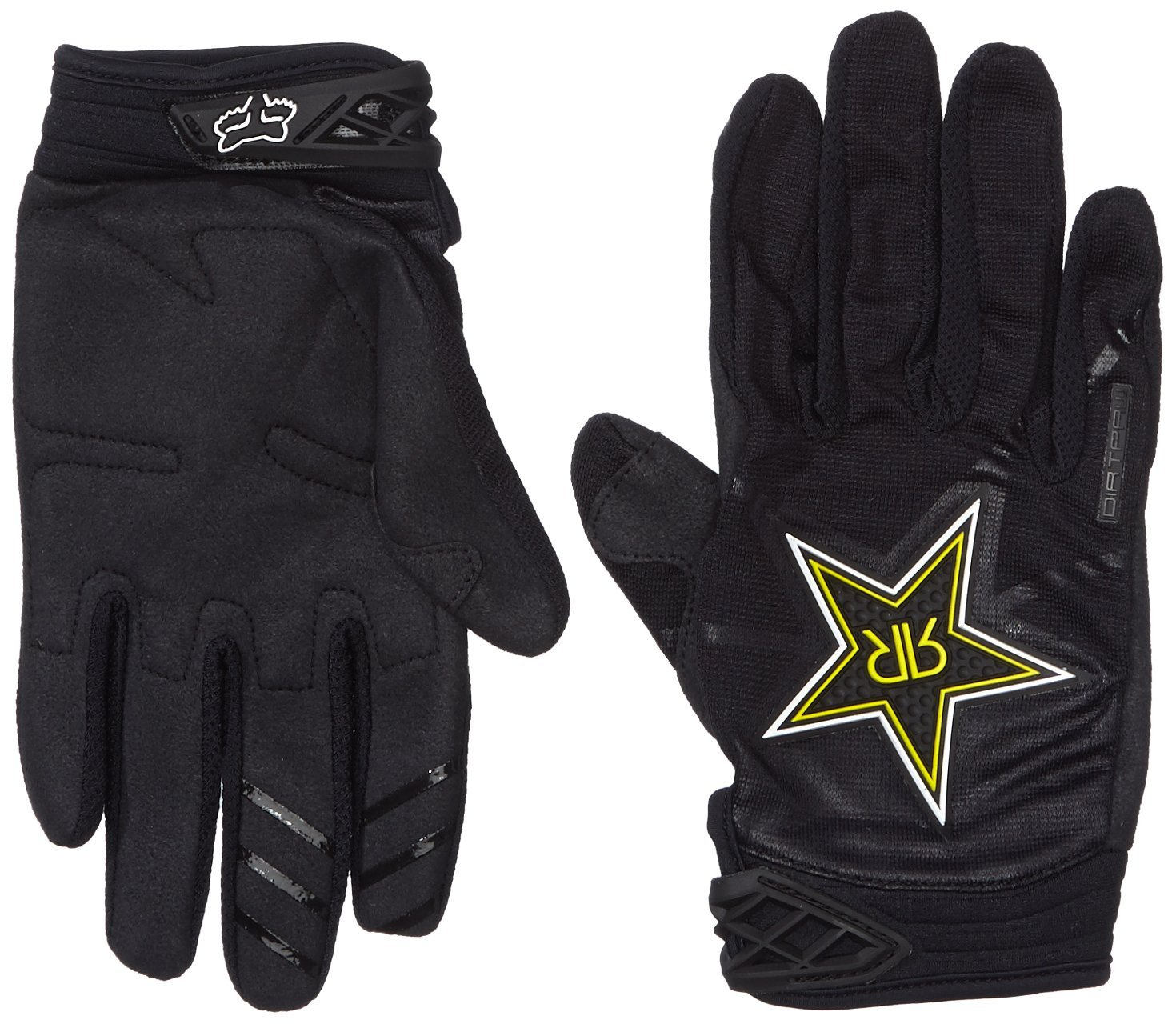 Fox Racing Dirtpaw Rockstar Men's Dirt Bike Motorcycle Gloves - Black / Small
