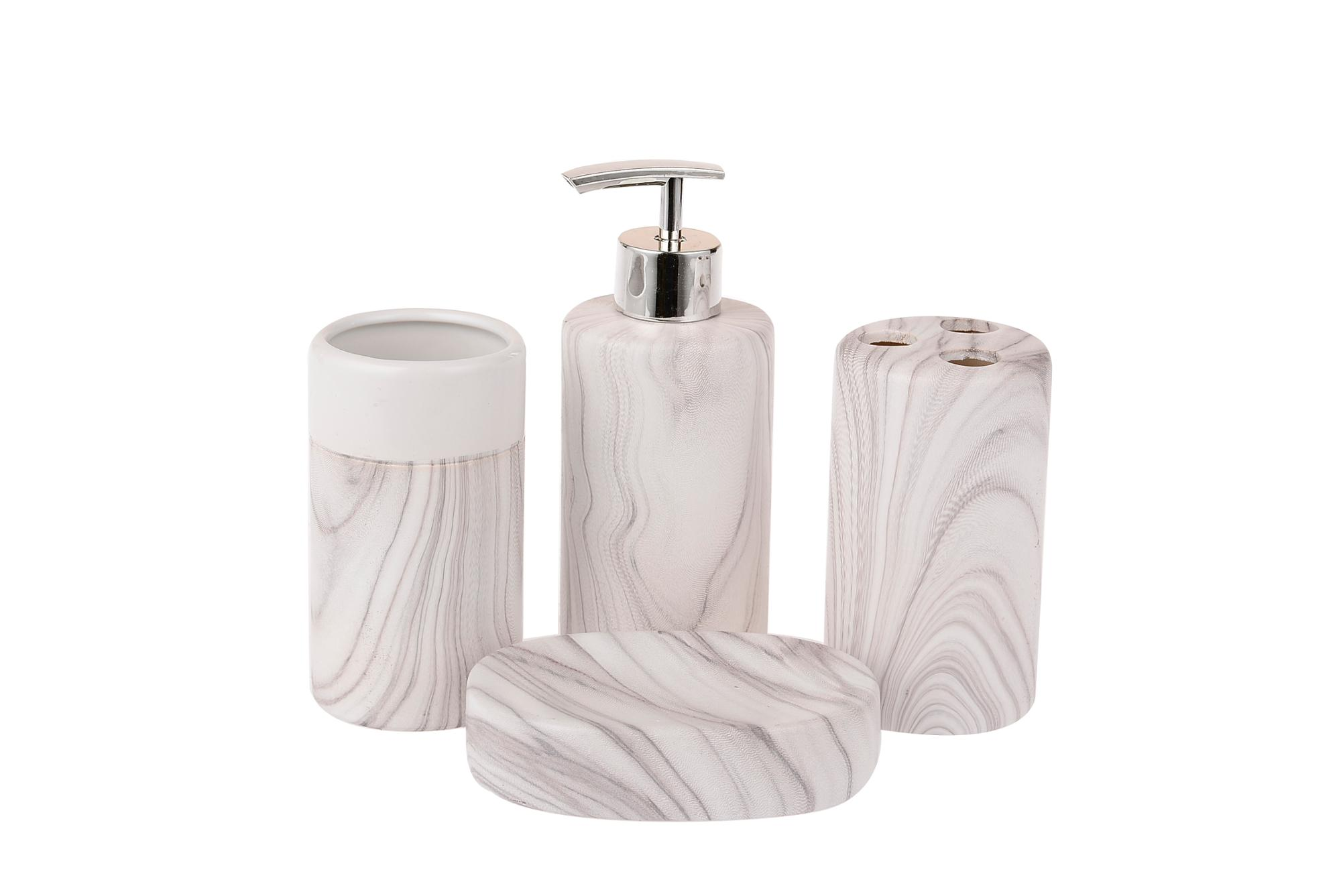 Hotel used gift packing marble guangzhou porcelain bathroom set