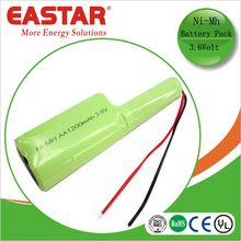 High quality ni-mh battery packs aa 1200mah 3.6v for led and rc