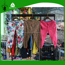 Bulk Wholesale Ladies second hand clothes/clothing in uk style,Three-quarters Pants Used Clothing uk style