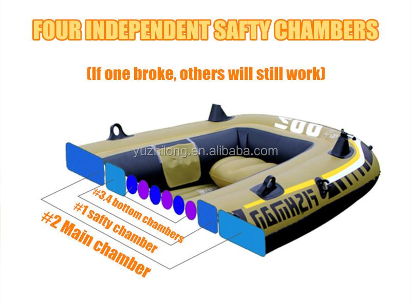 מפעל מחיר PVC מעובה קיאק 4 אדם מתנפח דיג סירה מתנפח סירות