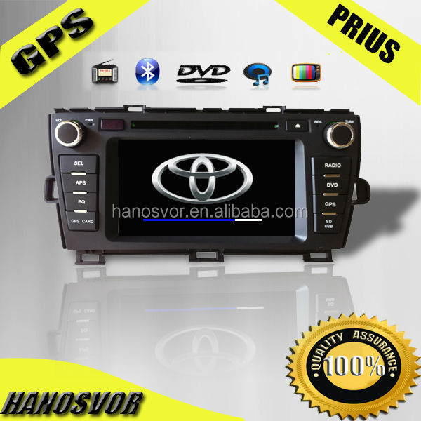 HANOSVOR China Factory Directly Sale Car Audio GPS Navigation Monitor for Toyota Prius SD Card Map By Free